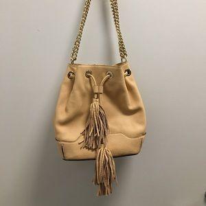 Rebecca Minkoff Tan/Pink Leather Bucket Bag